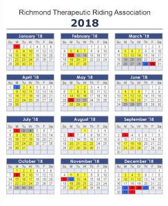 2018 calendar small